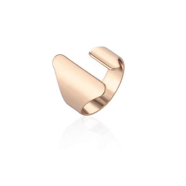 Min 1pc 2017 New Fashion Rings Gold and Silver Open Punk Big Dome Rings for Wome