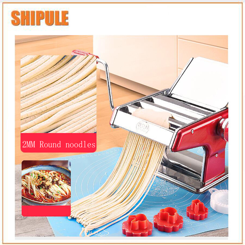 Stainless Steel Pasta Making Machine Red Siver Deluxe Pasta Machine Noodle Maker automatic pasta machine household pasta machines electric noodle pressure machine noodle maker