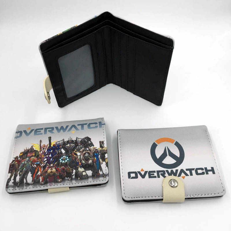 Аниме игра Overwatch короткий кошелек мульти-кнопка платы кошелек крутой дизайн деньги сумка для подарка или коллекции