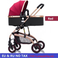 EU no tax Baby Stroller 3 in 1 High Landscape bidirectional walking Baby buggy Pram Portable Folding strollers baby car Carriage