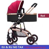 EU no tax Baby Stroller 3 in 1 High Landscape bidirectional walking Baby buggy Pram Portable Folding strollers baby car Carriage