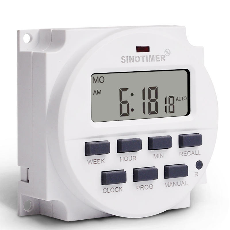 Temporizador digital, big lcd 1.6 Polegada digital 220v 230v ac 7 dias cronômetro programável interruptor com ul listado relé dentro e função do tempo de contagem regressiva