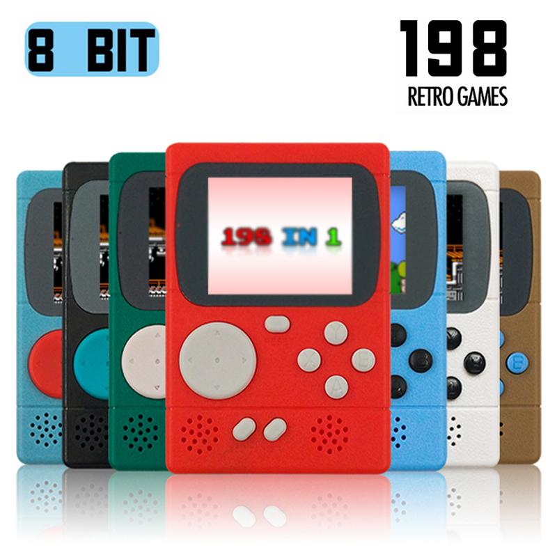 Video Game Console Mini Pocket Handheld Game Player Built-in 198 Classic Games Best Gift for Child Nostalgic Player