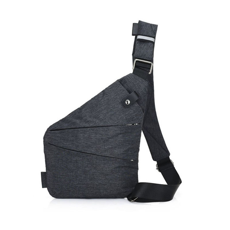 ALYMLH Anti-Theft Men travel Messenger Bag Shoulder Bags Men diagonal Hidden Pack Mens Cool Motorcycle Sling gun pack chest bag