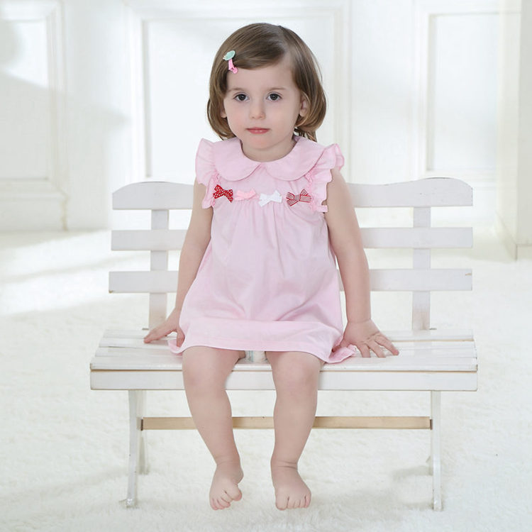 17be64dad478c Newborn Infant Baby Dress 100% Cotton Pink Fashion Baby Girl Vestido 2017  Daily Toddler Baby Clothes For 1 Year Old ABD164006-in Dresses from Mother  & ...