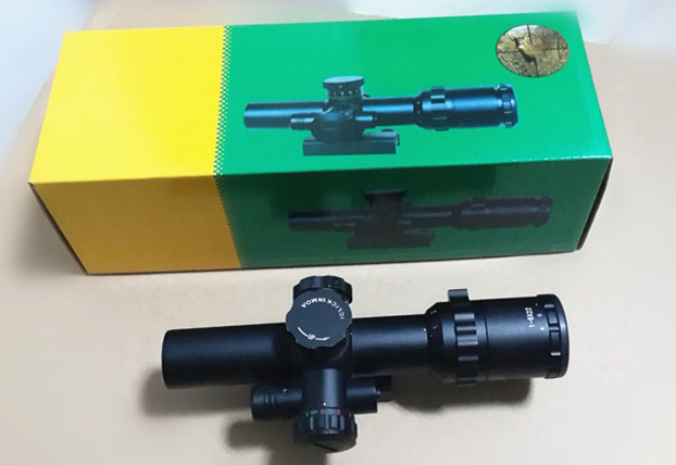 Hunting Sniper Rifle Scope 1-6x22 Side Wheel Illuminated Optical Rifle Scope with side mounted red laser/ red dot Sights scope magpul g lt p moe sniper rifle limited edition