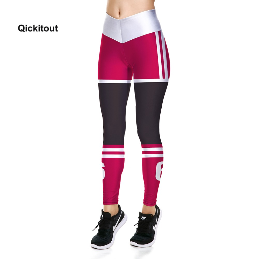 2018 Fashion Women Fitness Leggings Women Summer Pants Red Black Stripe Pants Casual Long Pants Plus Size