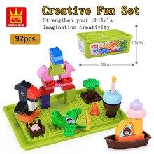 Classic Bulk Creative Fun Set Multicolour DIY Model Building block construction  Enlightened toy For childrens gift