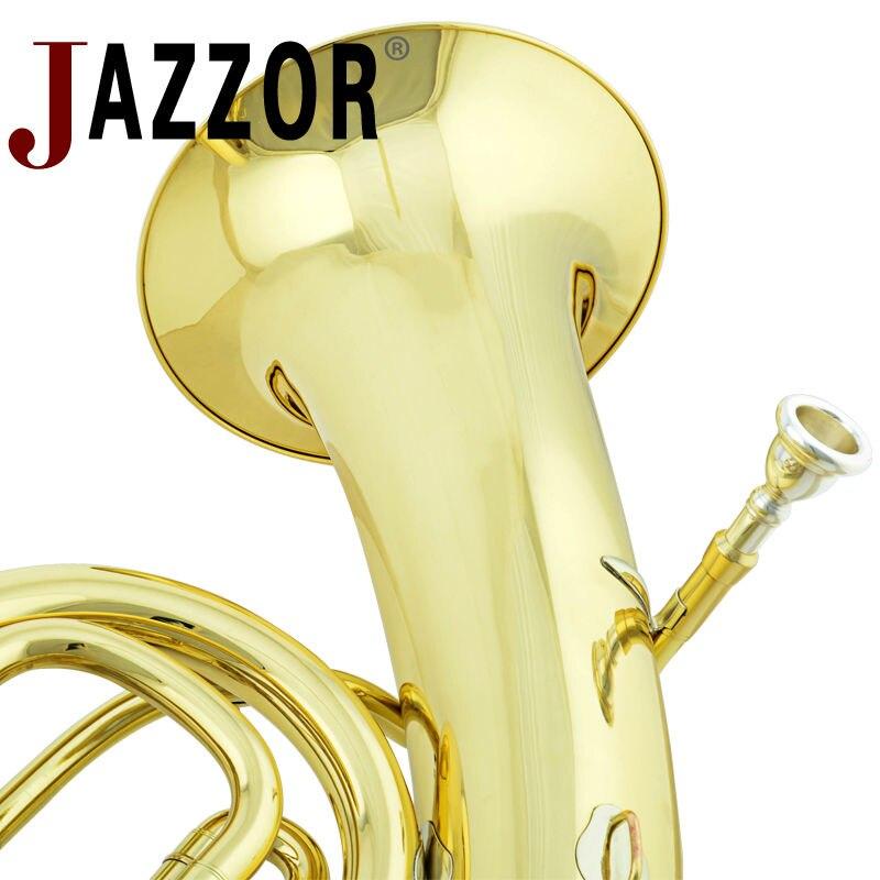 Профессиональный JAZZOR JZEU-310 Профессиональный euphonium B плоский золотой лак, латунный духовой инструмент с мундштуком и чехол