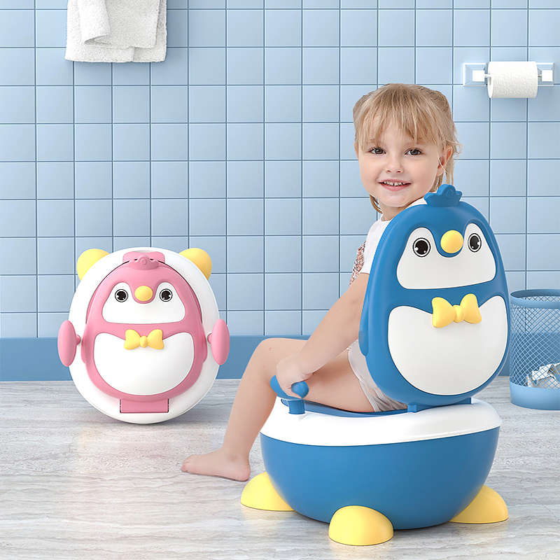 New Children's Toilet Baby Girl Small Toilet Boy Urinal Potty Infant Toilet Potty Plus Size Free Cleaning Bag + Potty Brush