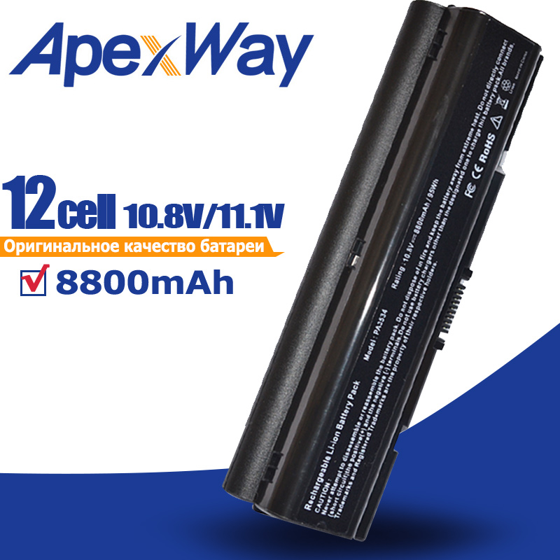 8800mAh Battery for Toshiba A300 A500 L200 L300 L500 L550 L505 L555 M202 pa3534 3534 pa3534u PA3534U 1BAS PA3534U 1BRS Satellite-in Laptop Batteries from Computer & Office on AliExpress - 11.11_Double 11_Singles' Day 1