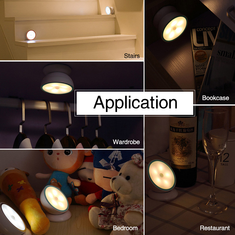 Motion Sensor Light USB Rechargeable Sensing Lights Cordless night light LED wireless for Hallway Bedroom Closet Stairs (19)