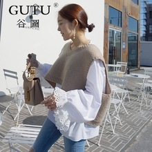 Pull gilet en tricot style solide couleu ...