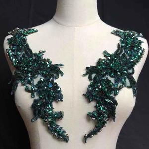 Image 4 - Avec des strass en or, avec appliques en cristal, pour mariée, corsage de luxe, Haute Couture, en perles lourdes