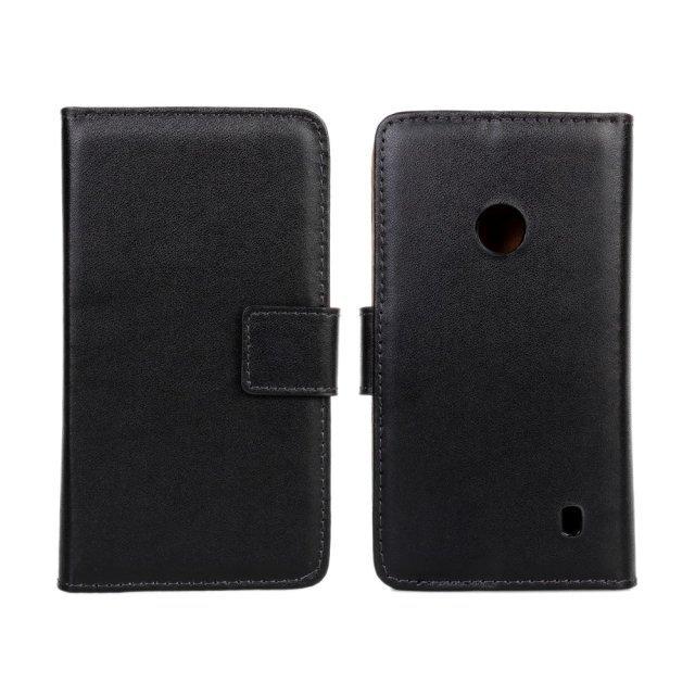 Caso de la cubierta de cuero para nokia lumia 520 monedero shell protector caso