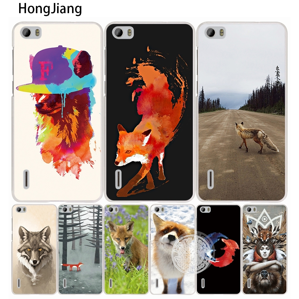 HongJiang fox white red animal cute <font><b>cell</b></font> <font><b>phone</b></font> Cover Case for <font><b>huawei</b></font> honor 3C 5A 4A 4X 4C 5X 6 7 8 <font><b>Y6</b></font> Y5 2 II Y560