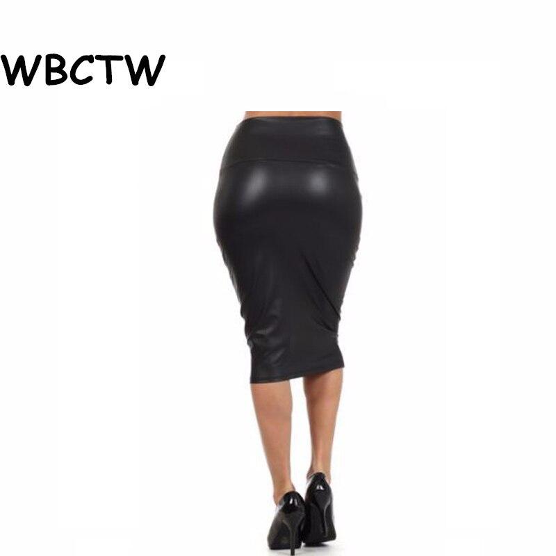 14a88e1e0c6da8 ⑥WBCTW 9XL 10XL Plus Size Rokken Solid Hoge Taille Knie lengte ...
