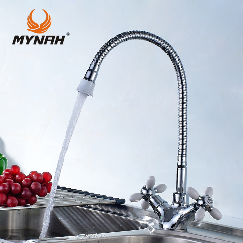 MYNAH Kitchen Faucet Russia free shipping classic kitchen faucet dual control multi color choice of multi