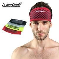 Queshark Radfahren Stirnbänder Ausrüstung Sport Schweißband Reiten Yoga Haar Elastische Bands Sport Frauen Männer Sicherheit Bandanas Headwear