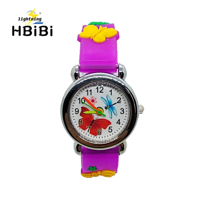 HBiBi Fashion Colorful Butterfly dragonfly font b Watches b font Children font b Watch b font
