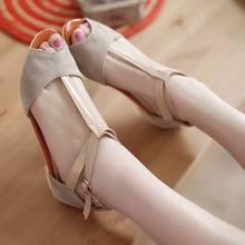 Fashion New 2017 Bow Open Toe Shoes Women Summer Sandals For Women Flat Heel Women's Flats Women's Sandals Sandalias Femininas