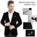 Nueva llegada de polímero compuesto clothing de autodefensa puñalada resistente anti-corte trajes puñalada resistente seguridad stealth abrigo