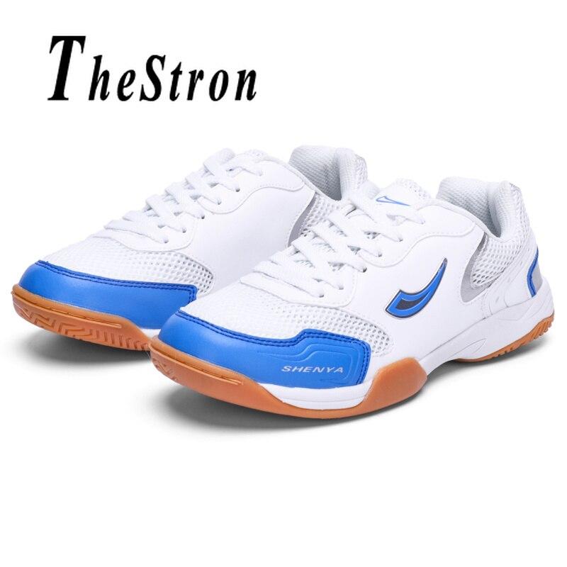 Couples Badminton Shoes Spring Autumn Women Badminton Court Shoes White Blue Trainers Shoes Men Breathable Indoor Sport Shoes