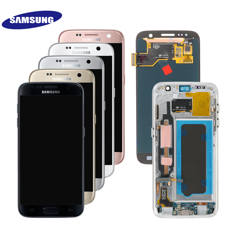 HTB1VyJeThjaK1RjSZFAq6zdLFXac ORIGINAL 5.1'' SUPER AMOLED LCD For Samsung Galaxy S7 G930 SM-G930F G930F LCD Display With Touch Screen Digitizer Replacement