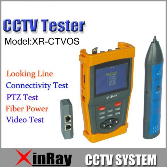 "Fress Shipping!!3.5"" LCD CCTV Tester  XR-CTVOS   DC12V PTZ   Optical power meter Cable length measurement"