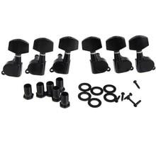 1 комплект 6 шт. гитарные колышки 3R3L струнные ключи тюнеры машинные головки для электроакустической гитары Strat Tele Black