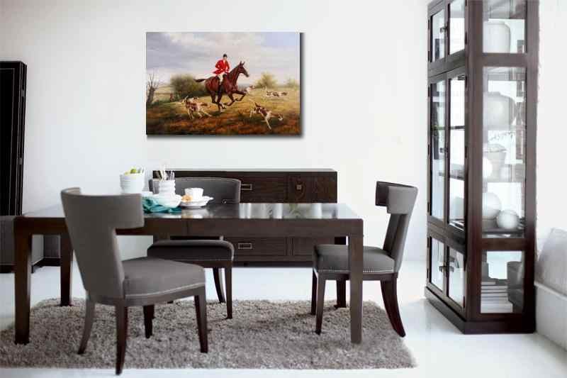 Tela Di Canapa Di Arte Paesaggi Heywood Hardy Dipinti Ad Olio Di Riproduzione La Volpe Caccia Cavalli Equitazione Immagine Dipinta A Mano Per La Decorazione Della Parete Pittura E Calligrafia Aliexpress