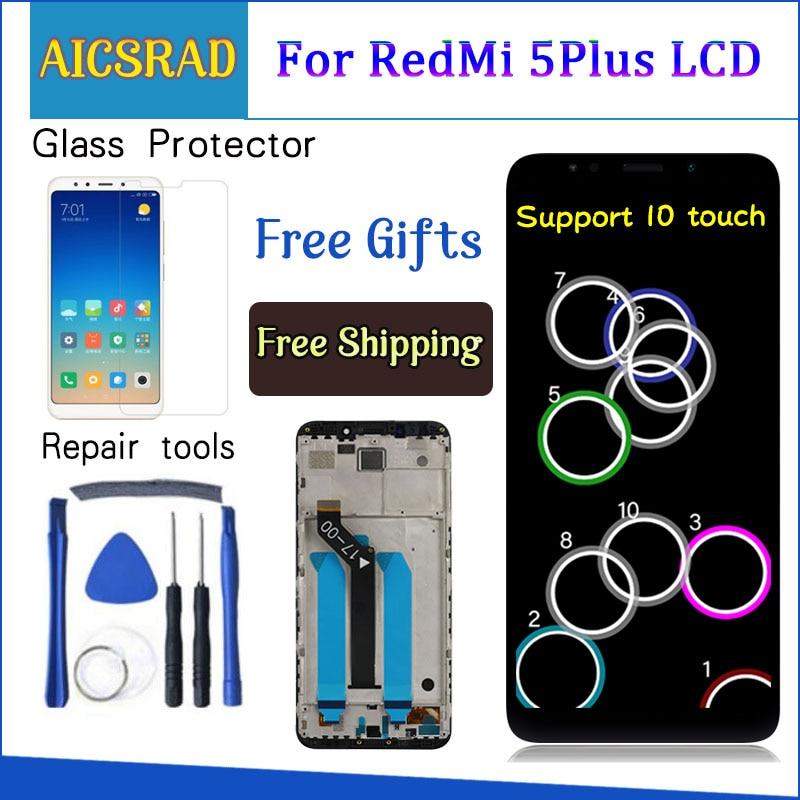 AICSRAD 100% Test For XiaoMi Redmi 5 Plus LCD Display+Touch Screen FHD 5.99