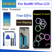 """AICSRAD 100% Test For XiaoMi Redmi 5 Plus LCD Display+Touch Screen FHD 5.99"""" Assembly Repair Parts With Frame AAA Quality"""