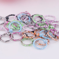 Mixed 100Pcs /lot 1.2*8*3 mm Multicolor Anodized Circular Nipple Rings Stainless Steel Nose Piercing Jewelry