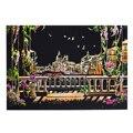 Детские игрушки 40 5*28 5 см Венецианская городская ночная сцена Сделай Сам поцарапать живопись соскабливание художественная бумага для рисов...