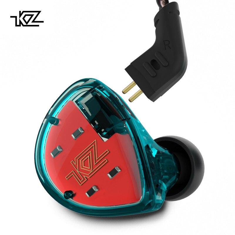 KZ ES4 auriculares Bluetooth tecnología híbrida unidades 1DD + 1BA auriculares en la oreja los monitores auriculares de alta fidelidad de bajo ruido cancelación de auriculares