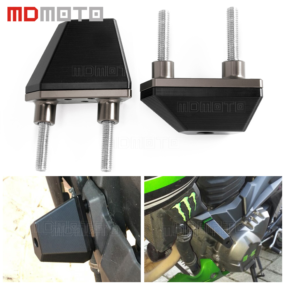 CNC motorcycle engine protector guard cover left&right frame sliders engine crash protection for kawasaki Z800 Z 800 2013-2015