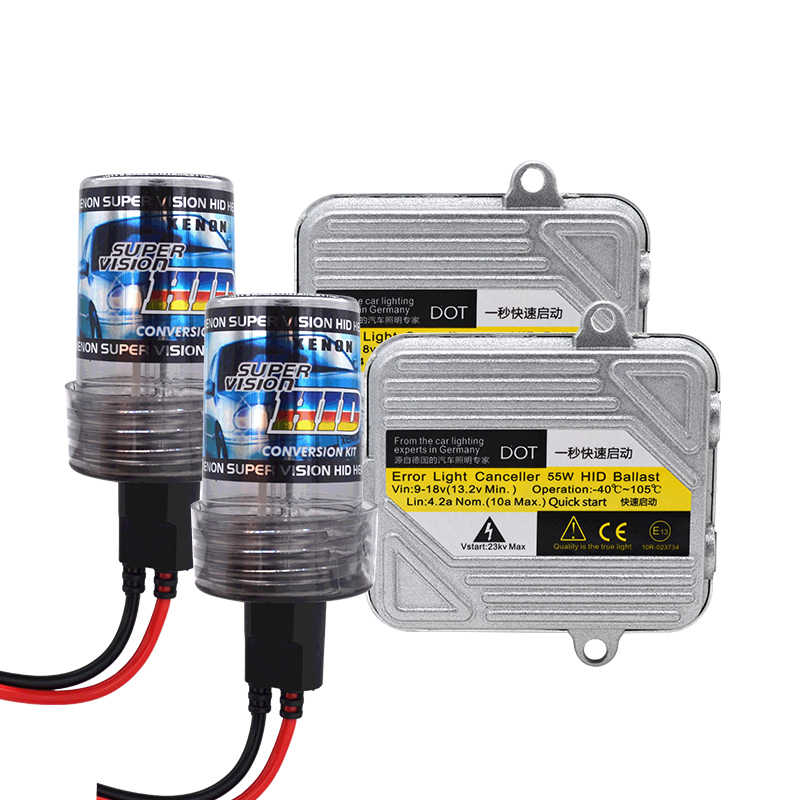 DC 12V 55W HID Kit Xenon H7 H1 H3 H11 HB3 HB4 4300K 5000K 6000K 8000K Car Light Headlight Bulb Fast Bright 55W HID Ballast Kit