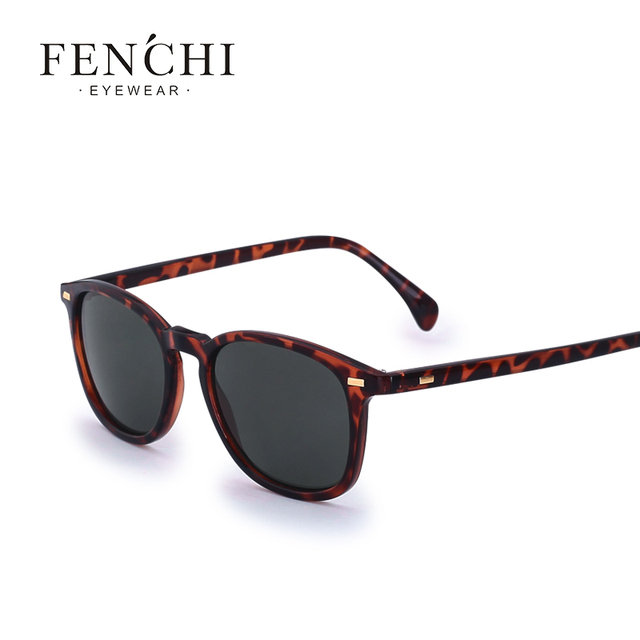 83fd7fd8924 FENCHI Fashion New Square Polarized Sunglasses Men Women Vintage Retro  Brand Designer Sun glasses UV400