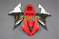 Red black white Injection Fairing Body Work Frame Kit for Yamaha YZF 1000 R1 2002 2003