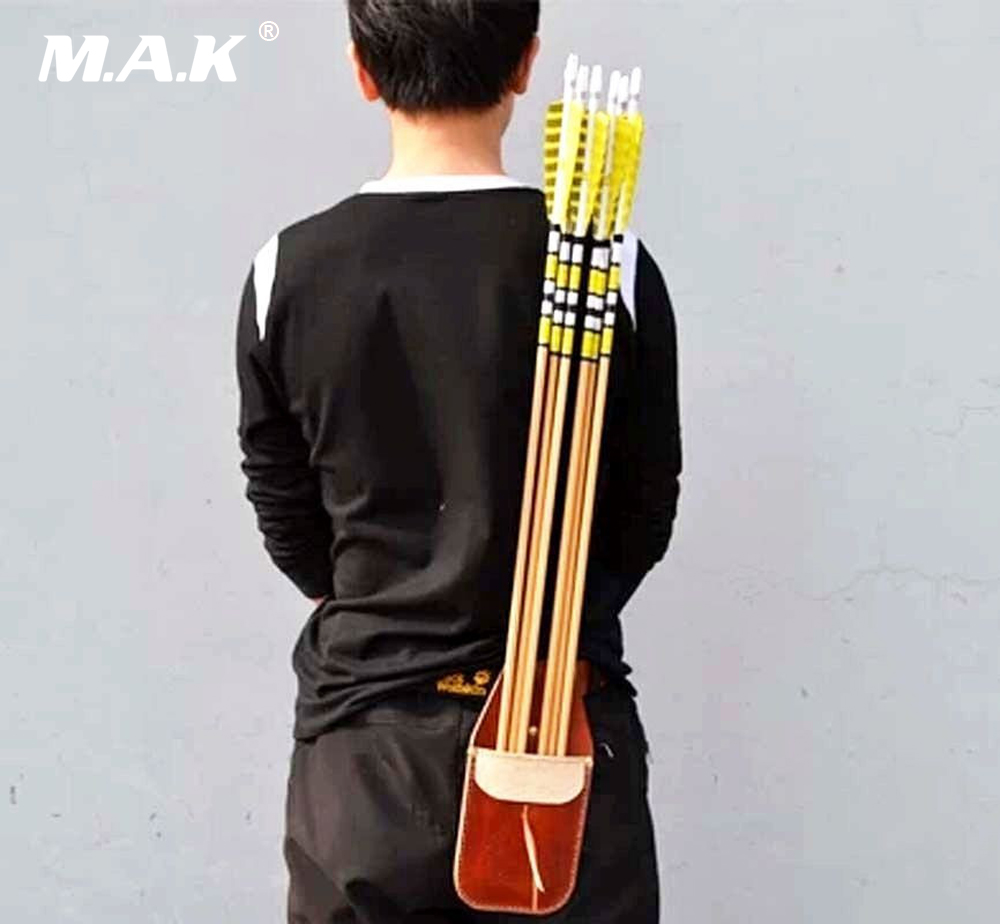 Sport Arrow Quiver Waist Bag Holder Archery Accessorie Bow Belt Leather Handmade leather arrow quiver