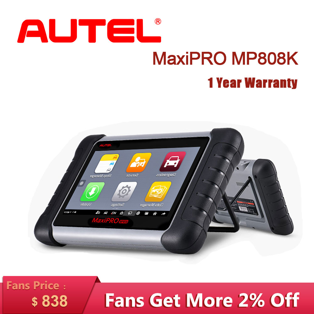 Autel MaxiPRO MP808K Auto Diagnostic auto Tool OBD2 Code Reader Scanner OBD car diagnostic scania automotivo vag com like DS808K-in Engine Analyzer from Automobiles & Motorcycles