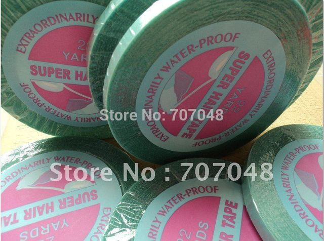 10 rolls / lot  long time water proof  tape Super quality blue tape  hair extension tape  hair tape