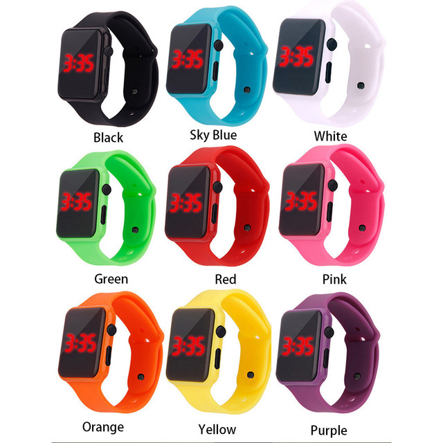 Mens Sport Watch Square LED Student Adult Couple Electronic Digital Watch Electronic Clock Hodinky digital relogio Y501