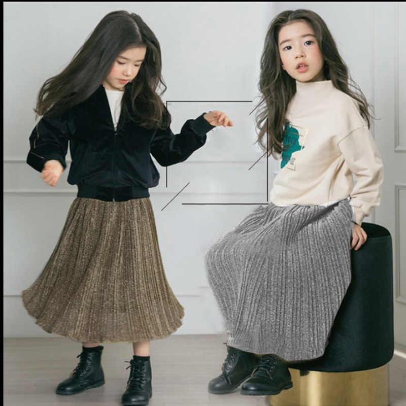 Nueva falda para niñas faldas de moda para niños encantadora princesa Falda larga para niñas falda de fiesta para la edad 2-15Y DQ753