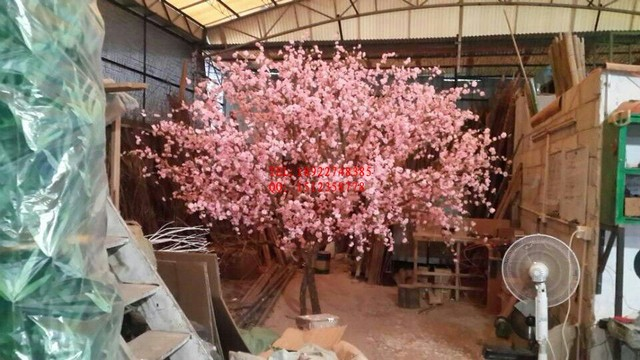 Outdoor artificial plants potted peach tree simulation process ...