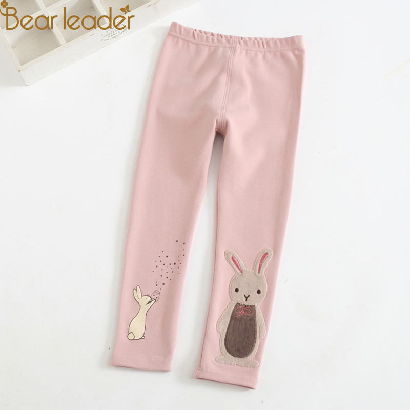 Bear Leader Girls Pants 2018 New Autumn Cartoon Rabbit Embroidery Kids Leggings Mid Full Length Pants For 3T-7T трековый светодиодный светильник ul 00002361 uniel ulb m08h 24w ww white