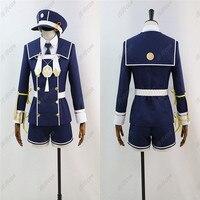 Hot Selling Anime Touken Ranbu Online Cosplay Costume Adult Women Men Blue Color Military Uniform COS Clothing