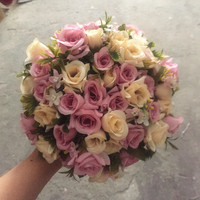 2017 Real Images Artificial Rose Wedding Bouquet Beautiful Wedding Accessories Bridal Bouquet de Mariage