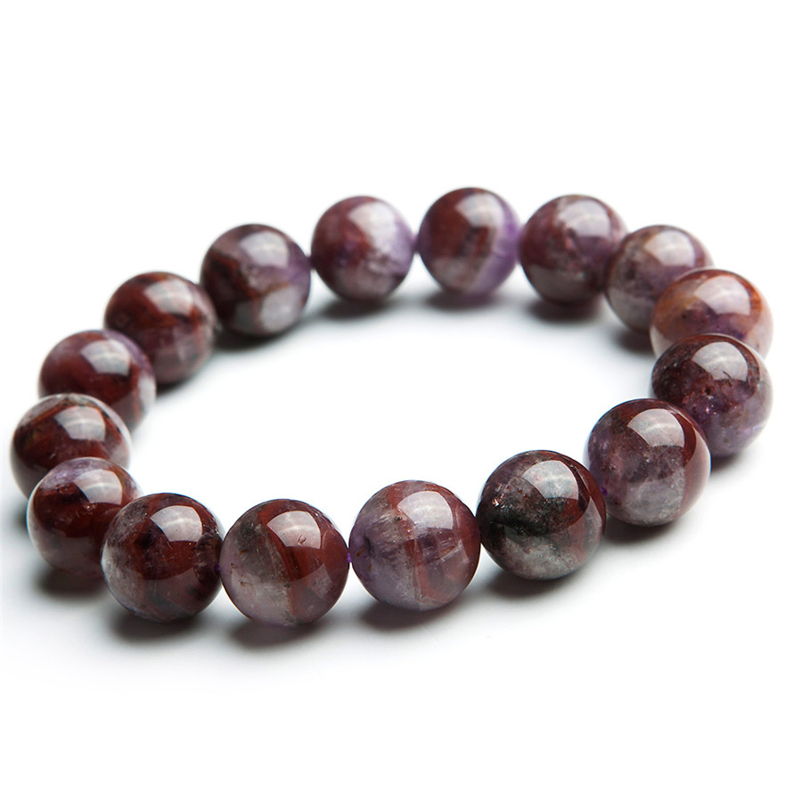 13.5mm Genuine Natural Auralite 23 Gems Stone Stretch Healing Crystal Round Bead Bracelets Women Men13.5mm Genuine Natural Auralite 23 Gems Stone Stretch Healing Crystal Round Bead Bracelets Women Men